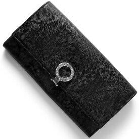 ブルガリ 長財布 財布 メンズ レディース ブルガリブルガリ レザー ブラック 30414 BVLGARI