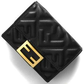 フェンディ 三つ折り財布/ミニ財布 財布 レディース バゲット ズッカ ブラック&オーロソフト 8M0395 AAJD F0KUR 2020年秋冬新作 FENDI