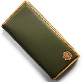 ハンティングワールド 長財布 財布 メンズ バチュー オリジン BATTUE ORIGIN グリーン&ビンテージナチュラル 420 10A HUNTING WORLD