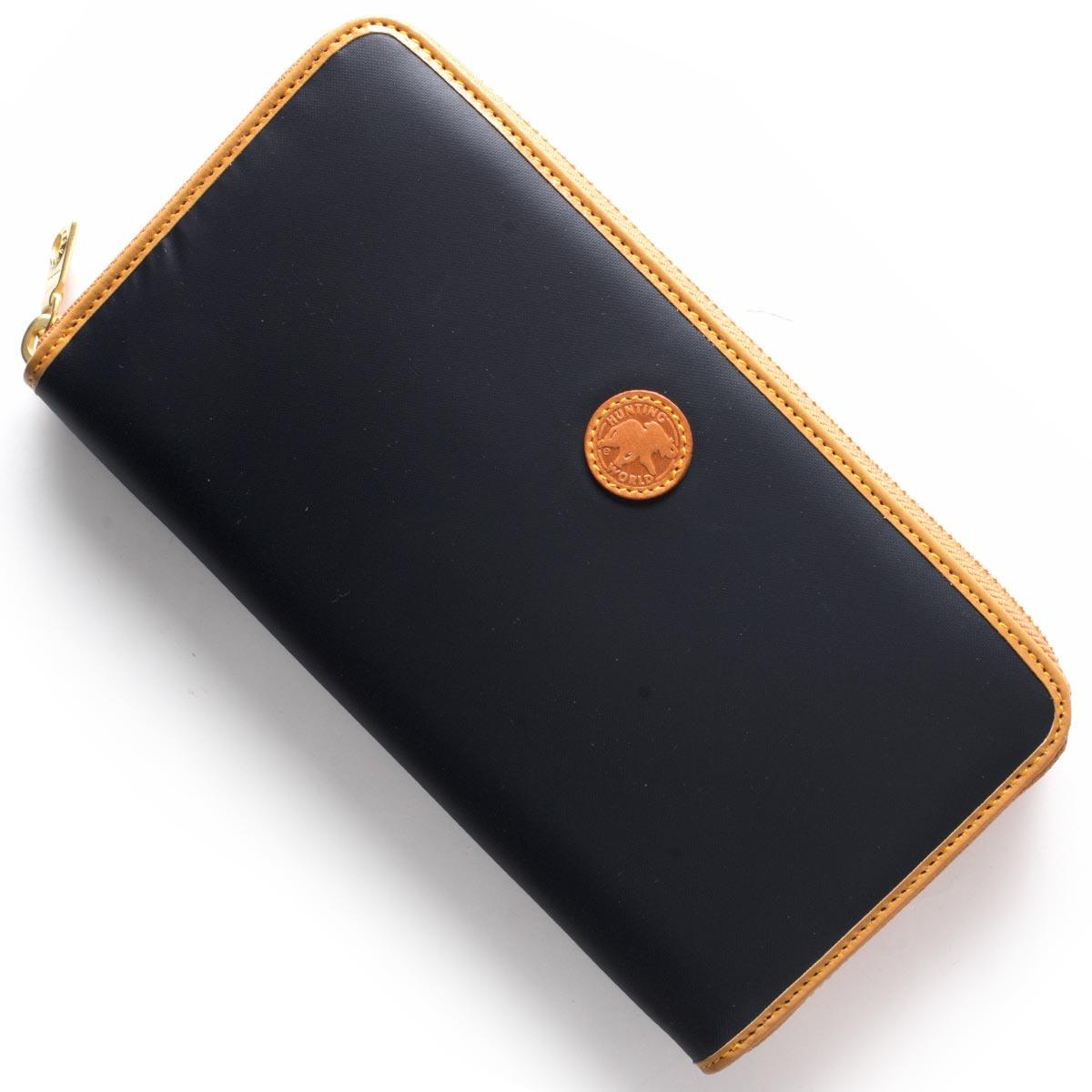 ハンティングワールド 長財布 財布 メンズ BATTUE ORIGIN ネイビー&ビンテージナチュラル 827 1A6 HUNTING WORLD バーゲン ギフト プレゼント