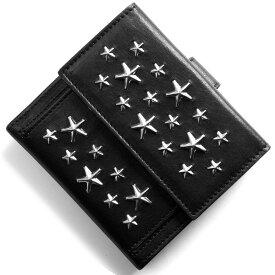 ジミーチュウ 二つ折り財布 財布 メンズ レディース フリーダ スター スタッズ ブラック FRIDA CST BLACK JIMMY CHOO