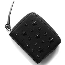 ジミーチュウ 二つ折り財布 財布 レディース レジーナ エナメル スター スタッズ ブラック REGINA ENL 183 BLACK BLACK JIMMY CHOO