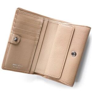 ジミーチュウJIMMYCHOO二つ折り財布マーリーMARLIEバレエピンクベージュMARLIEGRZBPIレディース