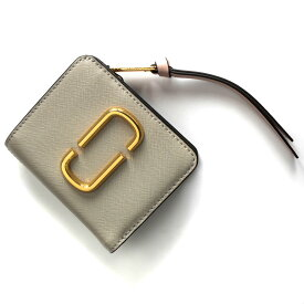 2bf0c2eef6ac マークジェイコブス 二つ折り財布 財布 レディース スナップショット ダブルJロゴ ダストグレーマルチ M0014282