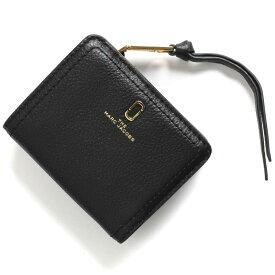 マークジェイコブス 二つ折り財布 財布 レディース ザ ソフトショット ミニ ダブルJロゴ ブラック M0015122 001 2019年春夏新作 MARC JACOBS