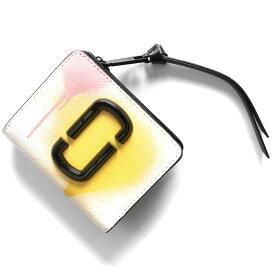 マークジェイコブス 二つ折り財布/ミニ財布 財布 レディース スナップショット スプレー ペイント ホワイトマルチ M0016169 101 2020年春夏新作 MARC JACOBS