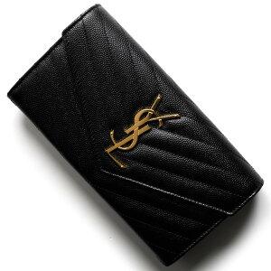 サンローランパリイヴサンローラン長財布財布レディースモノグラムYSLブラック372264BOW011000SAINTLAURENTPARIS