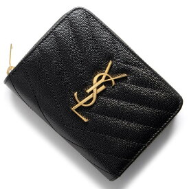サンローランパリ イヴサンローラン 二つ折り財布 財布 レディース モノグラム YSL ブラック 403723 BOW01 1000 SAINT LAURENT PARIS
