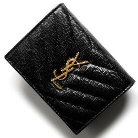 サンローランパリ イヴサンローラン 二つ折り財布 財布 レディース モノグラム YSL ブラック 530841 BOWA1 1000 SAINT LAURENT PARIS