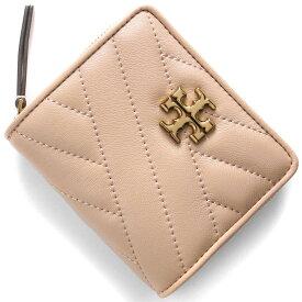 トリーバーチ 二つ折り財布 財布 レディース キラ シェブロン デボンサンドピンクベージュ 56820 288 2020年春夏新作 TORY BURCH