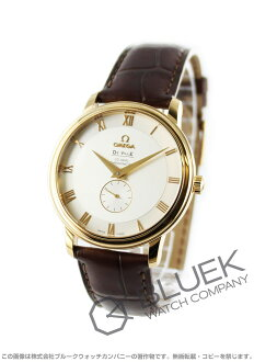 4613.30.02 オメガデビルコーアクシャルクロノメーター YG pure gold Small second leather brown / silver men