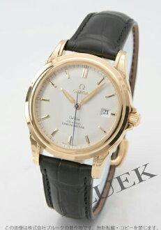 4631.31.31 オメガデビルコーアクシャル YG pure gold chronometer leather black / silver men
