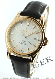 Omega OMEGA devil pure gold alligator leather men 4654.20.32