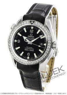 Omega Seamaster Planet Ocean co-axial in DIA bezel leather black 222.18.42.20.01.001
