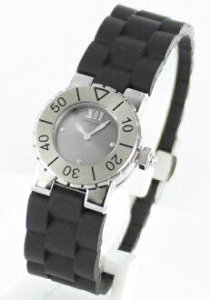 Chaumet class one 3 P diamond rubber black / grey women's W0620B-21N watch clock