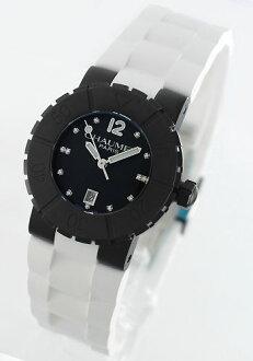 ショーメクラスワンチタンダイヤインデックスラバーホワイト / black Lady's W1722D-33M watch clock