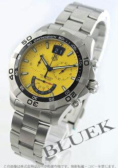 Tag Heuer Aquaracer Grande date chronograph yellow mens CAF101D... BA0821
