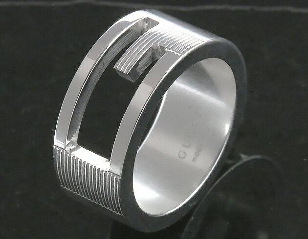 グッチ リング【指輪】 アクセサリー ボーイズ ブランテッド カットアウトG シルバー 032660 09840 8106 GUCCI