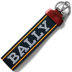 バリー キーリング/キーホルダー/ストラップ アクセサリー メンズ レディース フロリアン インクブルー&コダックオレンジ&ホワイト FLORYAN WB 174 6228930 BALLY