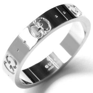 グッチ リング(指輪) アクセサリー メンズ レディース GGアイコン シルバー ホワイトゴールド 073230 09850 9000 GUCCI
