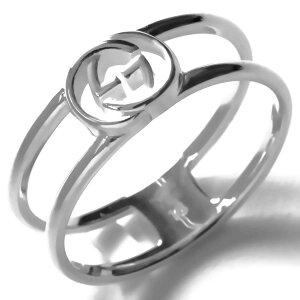 グッチ リング(指輪) アクセサリー メンズ レディース インターロッキングG シルバー 298036 J8400 8106 GUCCI