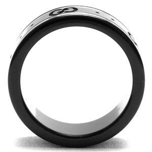 グッチリング【指輪】アクセサリーメンズレディースGGアイコンブラック&ホワイトゴールド225985I19A18061GUCCI