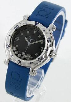 Chopard happy sport happy Beach diamond rubber blue / black ladies 27 / 8921 watch watches