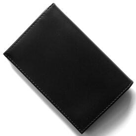 エッティンガー カードケース/名刺入れ メンズ ブライドル ブラック&パネルハイドイエロー 143JR BH BLACK ETTINGER