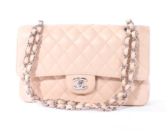 Chanel CHANEL matelasse line caviar skin shoulder bag beige A1112