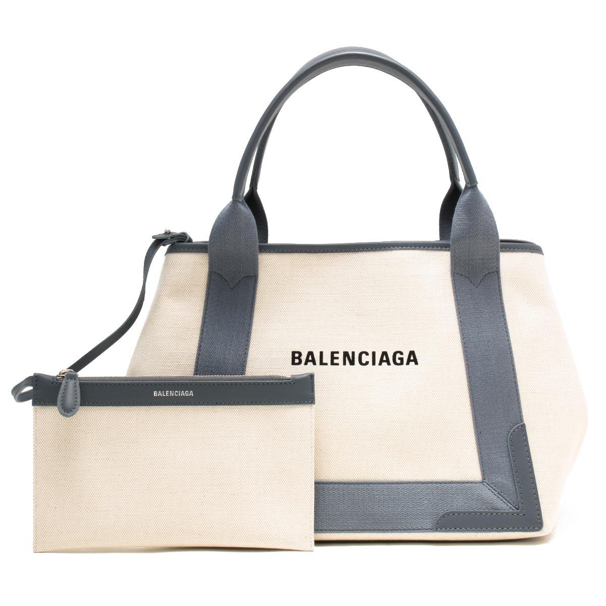 バレンシアガ トートバッグ バッグ レディース ネイビーカバス S ナチュラル&グレー 339933 AQ38N 1381 BALENCIAGA バーゲン