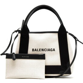 【X'masSALE】バレンシアガ トートバッグ バッグ レディース ネイビーカバス XS ブラック&ナチュラル 390346 AQ38N 1081 BALENCIAGA