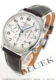 Jin Ron master collection automatic chronograph alligator leather brown / silver men L2.759.4.78.5