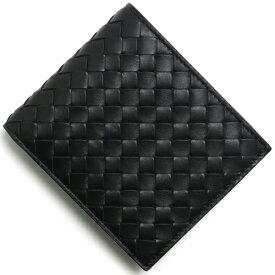 ボッテガヴェネタ (ボッテガ・ヴェネタ) 二つ折り財布 財布 メンズ イントレチャート ブラック 193642 V4651 1000 BOTTEGA VENETA