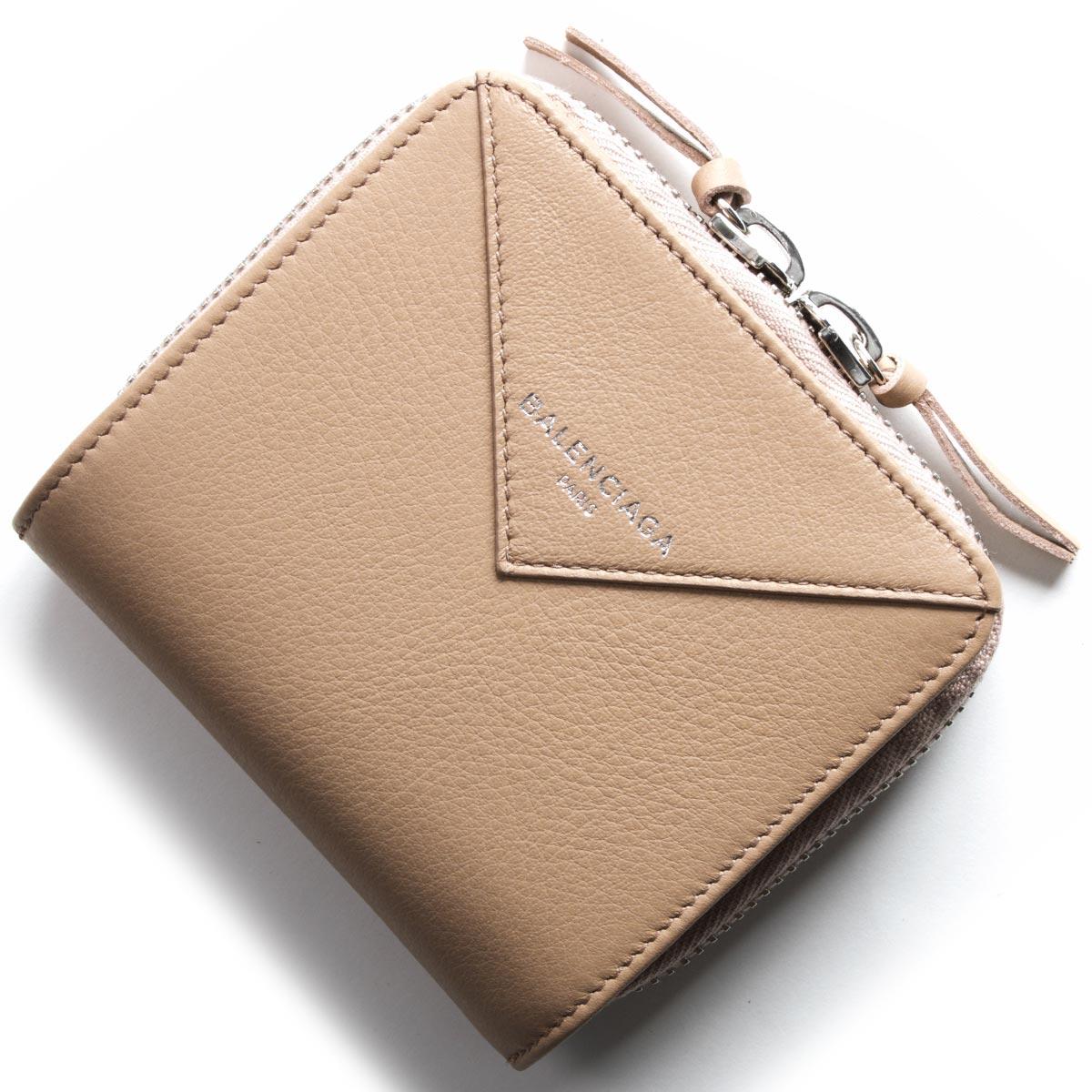 バレンシアガ BALENCIAGA 二つ折財布 ペーパー ビルフォールド PAPER ZA BILLFOLD ローズデサーブルベージュ 371662 DLQ0N 6310 レディース