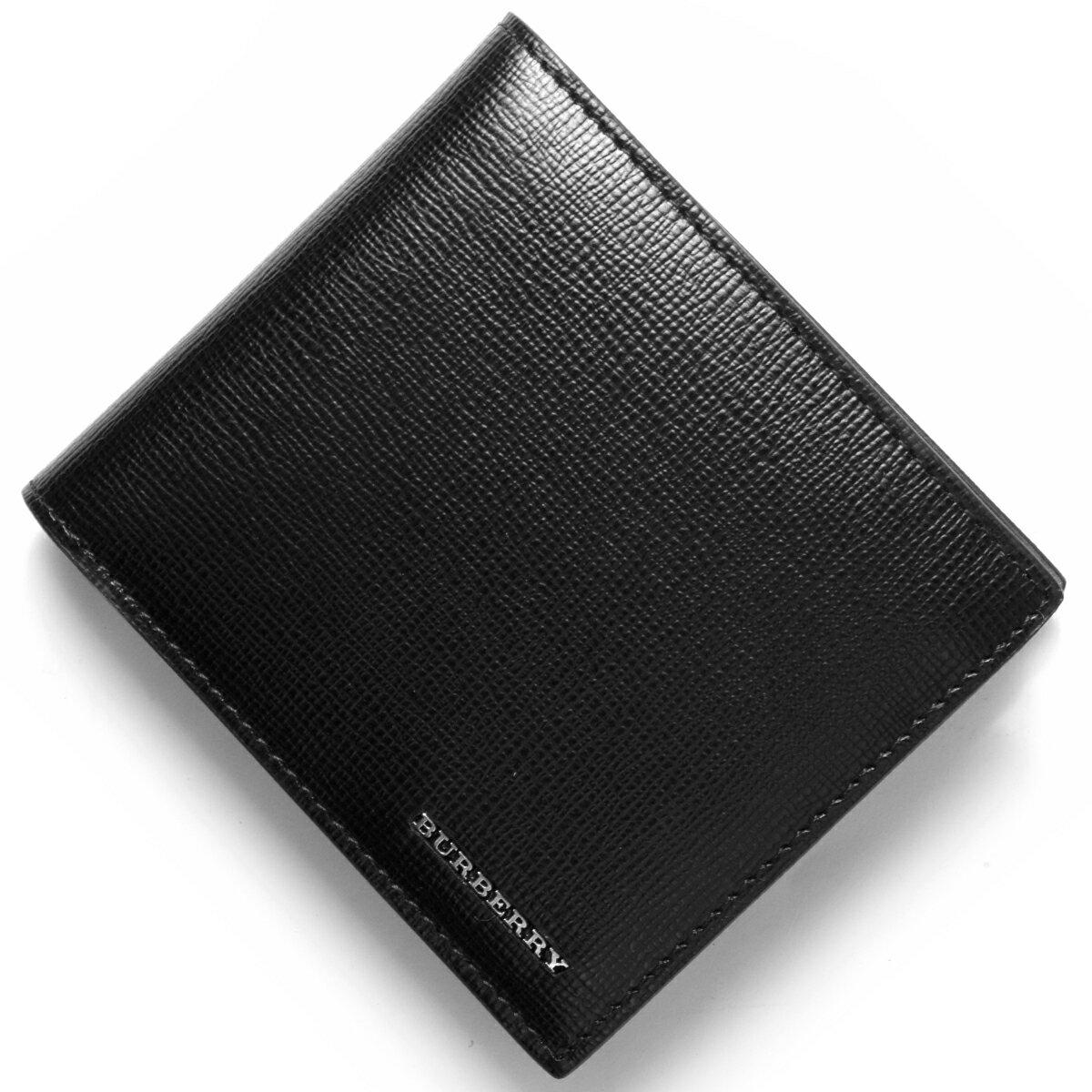 バーバリー BURBERRY 二つ折財布 ロンドン 【LONDON】 ブラック 3997618 00100 メンズ