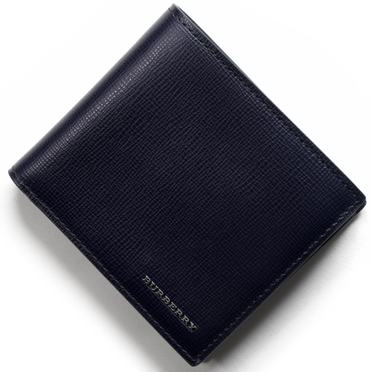 バーバリー BURBERRY 二つ折り財布 ロンドン 【LONDON】 ダークネイビー 3997620 41100 メンズ