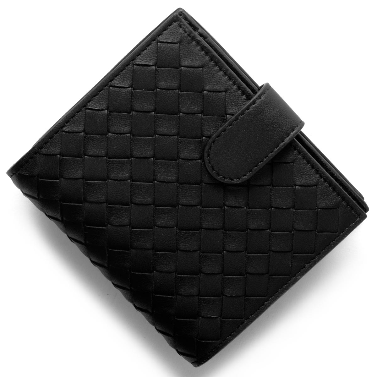 ボッテガヴェネタ (ボッテガ・ヴェネタ) 財布 二つ折り財布 財布 メンズ イントレチャート INTRECCIATO ブラック 121059 V001N 1000 BOTTEGA VENETA バーゲン