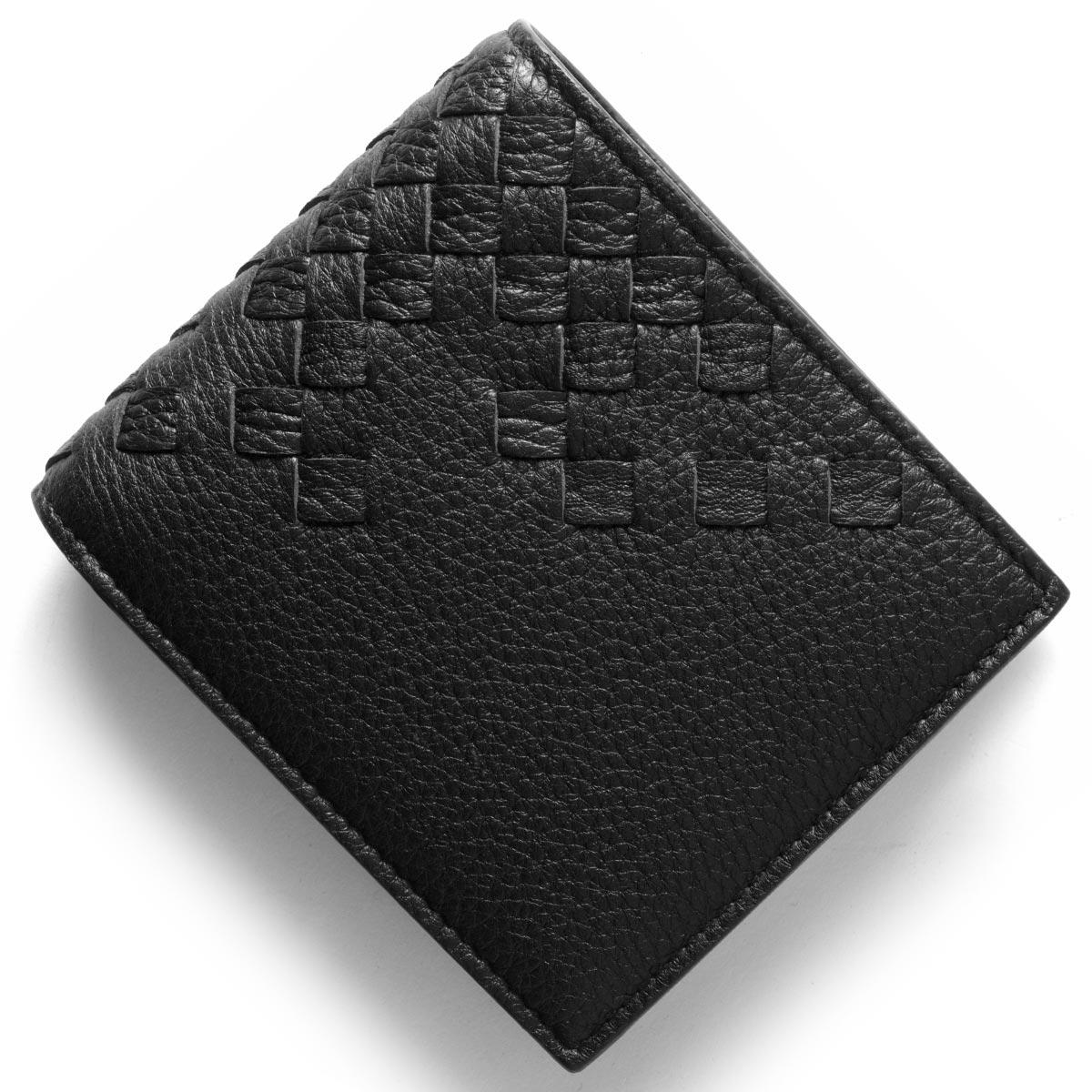 ボッテガヴェネタ (ボッテガ・ヴェネタ) 財布 BOTTEGA VENETA 二つ折り財布 イントレチャート ブラック 193642 VCEP1 1000 メンズ