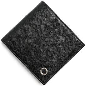 ブルガリ 二つ折り財布 財布 メンズ ブルガリブルガリ マン レザー ブラック 30396 BVLGARI