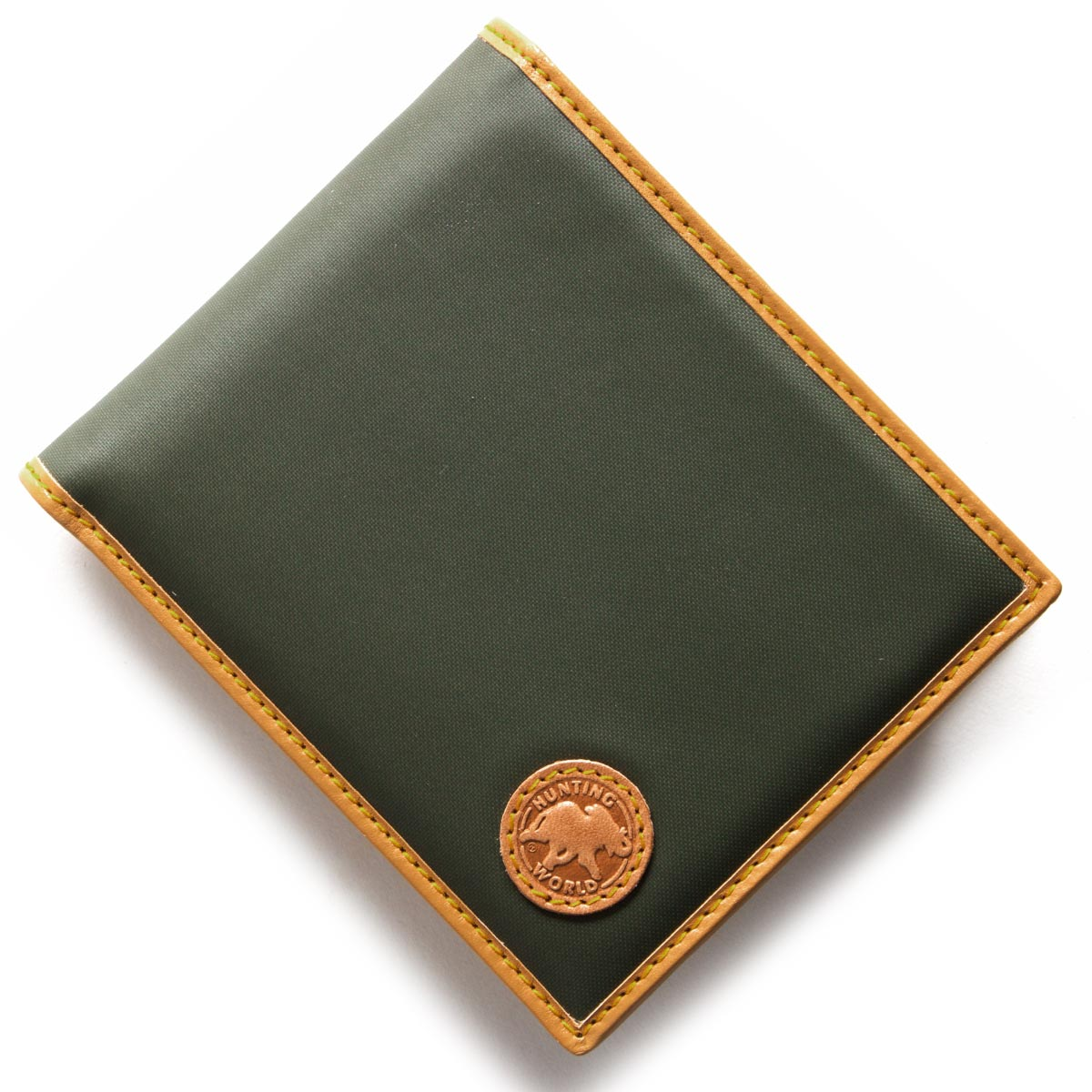 ハンティングワールド HUNTING WORLD 二つ折財布 バチュー オリジン BATTUE ORIGIN グリーン&ヴィンテージナチュラル 310 10A メンズ