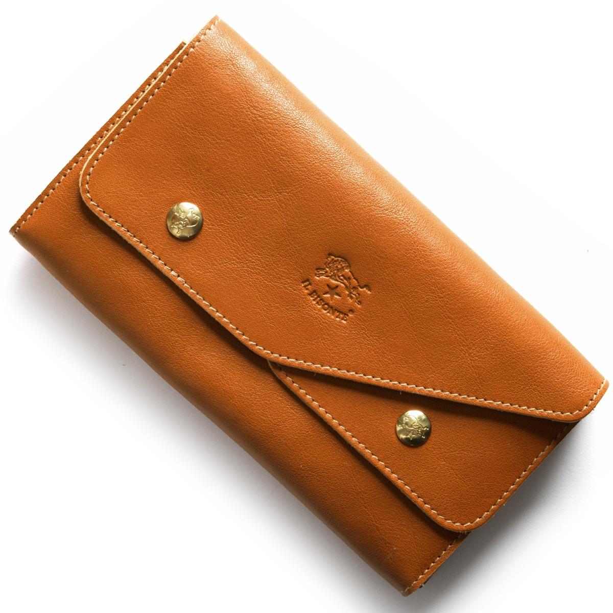 イルビゾンテ IL BISONTE 長財布 キャメルブラウン C0881 P 145 メンズ レディース