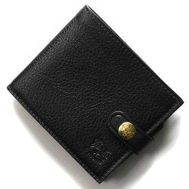 イルビゾンテ 二つ折り財布 財布 メンズ レディース スタンダード ブラック C1007 P 153 IL BISONTE