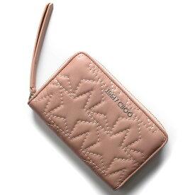 ジミーチュウ 二つ折り財布 財布 レディース ハレー スター マトラッセ バレットピンクベージュ HALLEY TMN 191 BALLET PINK JIMMY CHOO