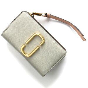 マークジェイコブス 二つ折り財布 財布 レディース スナップショット ダブルJロゴ ダストグレーマルチ M0014281 088 MARC JACOBS