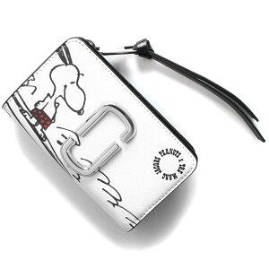 マークジェイコブス 二つ折り財布 財布 レディース スナップショット ピーナッツコラボ スヌーピー ホワイトマルチ M0016786 101 2021年春夏新作 MARC JACOBS