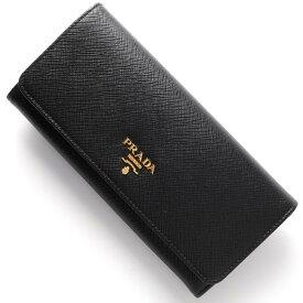 プラダ 長財布 財布 レディース SAFFIANO METAL ブラック 1MH132 QWA F0002 PRADA