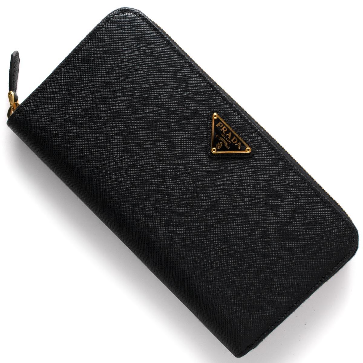 プラダ PRADA 長財布 SAFFIANO TRIANG 三角ロゴプレート ブラック 1ML506 QHH F0002 レディース