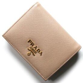 5ed3a9672f76 プラダ 二つ折り財布 財布 レディース サフィアーノ メタル チプリアピンクページュ 1MV204 QWA F0236 PRADA