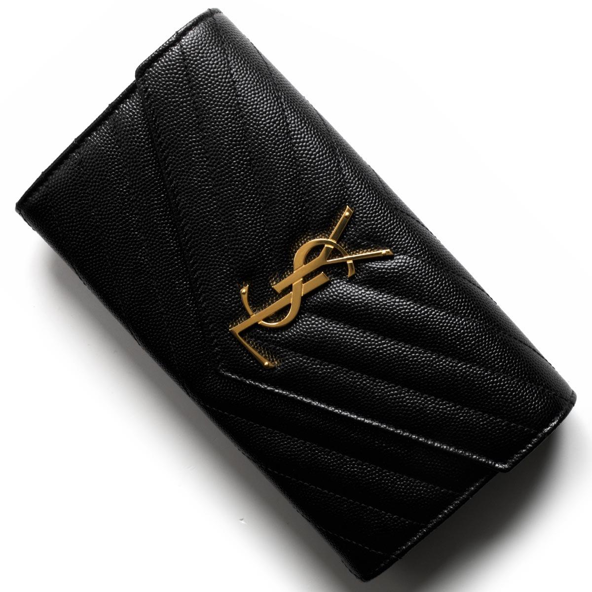 サンローランパリ イヴサンローラン 財布 長財布 財布 レディース モノグラム YSL ブラック 372264 BOW01 1000 SAINT LAURENT PARIS バーゲン
