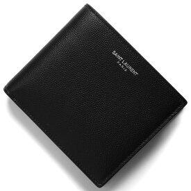 サンローランパリ イヴサンローラン 二つ折り財布 財布 メンズ クラシック ブラック 396303 BTY0N 1000 2019年秋冬新作 SAINT LAURENT PARIS